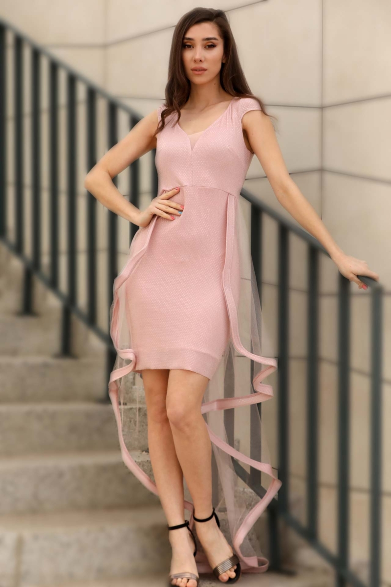 Women's Sequin Light Pink Dress